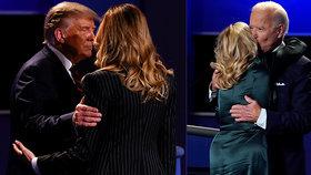 """""""Chladná"""" Trumpová po debatě prezidentovi jen stiskla loket. To """"milující"""" Bidenová nabídla obětí"""