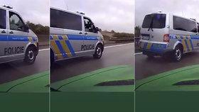 Drama na dálnici, řidič chtěl podjet policisty, jeden z nich na něj začal mířit zbraní.