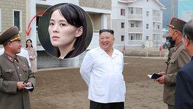 S diktátorem Kim Čong-unem vyrazila na inspekci na jih země i jeho sestra Kim Jo-čong
