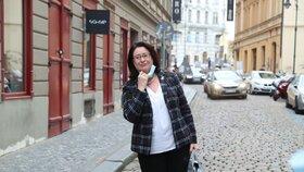 Společná kandidátka ODS a TOP 09 v senátním obvodu č. 27 Miroslava Němcová přichází 3. října 2020 do volebního štábu ODS v Praze, kde stranické předsednictvo sledovalo vyhlášení výsledků krajských a prvního kola senátních voleb.