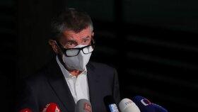 Premiér Andrej Babiš (ANO) okomentoval výsledek voleb (4. 10. 2020)