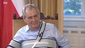 Prezident Miloš Zeman v nedělní Partii Terezie Tománkové FTV Prima (4. 10. 2020)