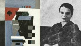 Obraz Piková dáma a malířka Toyen