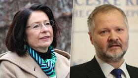 O senátorské křeslo v Praze 1 a Praze 7 se v druhém kole rozhodne mezi Miroslavou Němcovou a Václavem Hamplem.