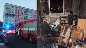 V Přerově hořel byt: V plamenech zůstalo uvězněno malé dítě!