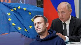 EU kvůli Navalnému postihne šest až sedm osob, Rusko pohrozilo sankcemi na EU.
