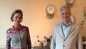 Současný belgický král Filip s nevlastní sestrou Delphine.