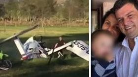 Hrozný pád letadla přežilo jenom malé dítě: Našli ho v náručí mrtvé matky