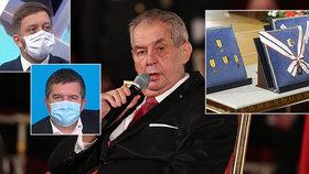 Prezident Zeman by měl podle Jana Hamáčka (ČSSD) a Víta Rakušana (STAN) jít příkladem a na státní svátek nechystat ceremoniál, kde se sejde více lidí