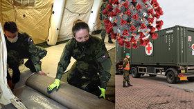 Vyjely první kamiony s vybavením pro novou polní nemocnici v Letňanech, vezou 200 lůžek