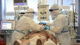 Péče o pacienty na ARO v nemocnici v Novém Městě na Moravě
