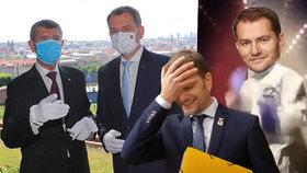Slovenský premiér Igor Matovič se v živém vysílání zamotal do angličtiny. Teď je terčem vtipů.