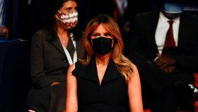 Manželka Donalda Trumpa Melania během prezidentské superdebaty (23.10.2020)