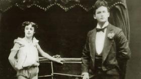 Harry Houdini se svojí manželkou.