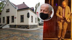 Roman Prymula v restauraci na Vyšehradě.