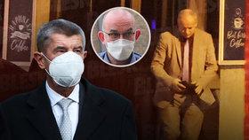 Premiér Andrej Babiš (ANO), možný adept na nového ministra Jan Blatný a ministr zdravotnictví Roman Prymula (za ANO)