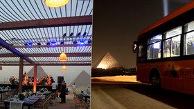 """""""Předtím tu nic takového nebylo."""" Egypt otevřel restauraci s výhledem na pyramidy"""
