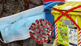Pražské služby nabádají lidi, kterým byl potvrzen koronavirus nebo kteří jsou v preventivní karanténě, aby netřídili odpad. I tímto způsobem totiž může docházet k šíření nákazy. (ilustrační foto)