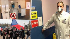 Také v den státního svátku vyrazil pražský primátor dobrovolničit do nemocnice. Pražanům z ní poslal vzkaz, ať jsou vůči sobě solidární a pomáhají si.