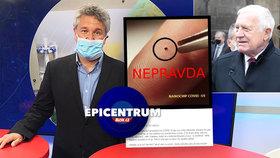 Epidemiolog Petr Smejkal v Epicentrum 29.10.2020 o koronavirových dezinformacích