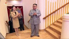 Manželka diktátora Kim Čong-una Ri Sol-ču byla naposledy na veřejnosti v lednu 2020.