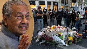 Malajský expremiér šokoval: Muslimové mají právo zabít miliony Francouzů, řekl po útoku v Nice.