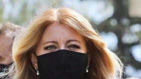 Slovenská prezidentka Zuzana Čaputová během pandemie covid-19