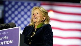 Budoucí první dáma USA Jill Bidenová během prezidentské kampaně svého muže.
