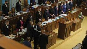 Prezident Miloš Zeman ve Sněmovně během 1. čtení státního rozpočtu na rok 2021