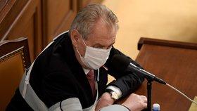 Prezident Miloš Zeman vystoupil na jednání Poslanecké sněmovny 11. 11. 2020