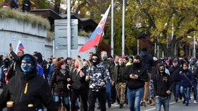 Protivládní demonstrace na Slovensku (17. 11. 2020)