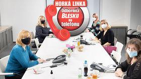 Odborníci na telefonu Blesku odpovídají volajícím.
