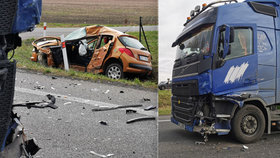 Bouračka nákladního a osobního vozu na Nymbursku stála jeden lidský život