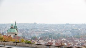 Vylidněná Praha v čase koronavirové krize