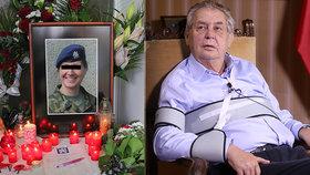 Miloš Zeman se vyjádřil k smrti vojačky Míši.