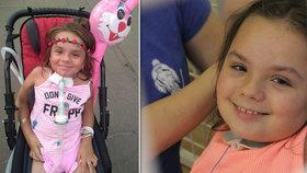 Malá Dominika je po nehodě napojena na dýchací přístroj.