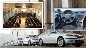 Sněmovna pořizuje šest nových aut. Zájemce o dodání musí ale zároveň odkoupit pět starých Škodovek. Jednu v průměru za 130 tisíc