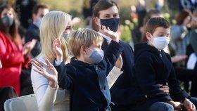 Ivanka Trumpová s rodinou.