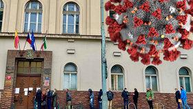 Před Úřadem MČ Prahy 3 stáli lidé v dlouhé frontě. Mohlo za to vládní nařízení kvůli koronaviru. Radnice našla výjimku a otevírací dobu změnila.