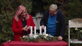 Jak vyrobit adventní svícen s živými květinami