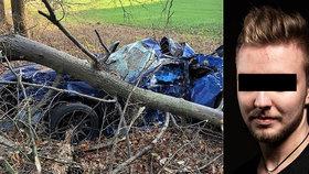 Při tragické nehodě u Přelovic zemřel známý závodník Ondřej přezdívaný Mercury (†21).
