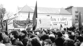 Demonstrace v Břeclavi.