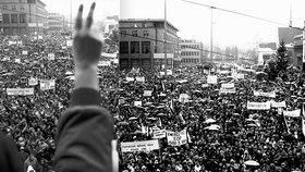 Do demonstrací se po 17. listopadu zapojilo prakticky celé Československo.