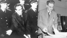 Vykonstruovaný proces s Rudolfem Slánským: Soud vyřkl před 68 lety 11 trestů smrti
