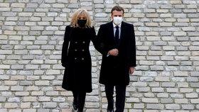 Francouzský prezident Emmanuel Macron s manželkou Brigitte