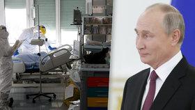 Na Putina se bezpečnostní opatření zřejmě nevztahují, mezi lidi chodí bez roušky