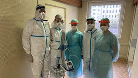 Tým speciální covidové jednotky v Nemocnici Milosrdných bratří funguje dva měsíce.