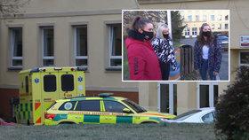 Podle studentek kladenské základní školy dívka měla z okna vyskočit
