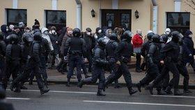 Demonstrace penzistů v Bělorusku.