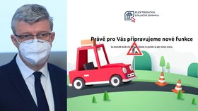 Vicepremiér Karel Havlíček (za ANO) na tiskové konferenci ke startu projektu elektronických dálničních známek a nefunkční e-shop (1. 12. 2020).